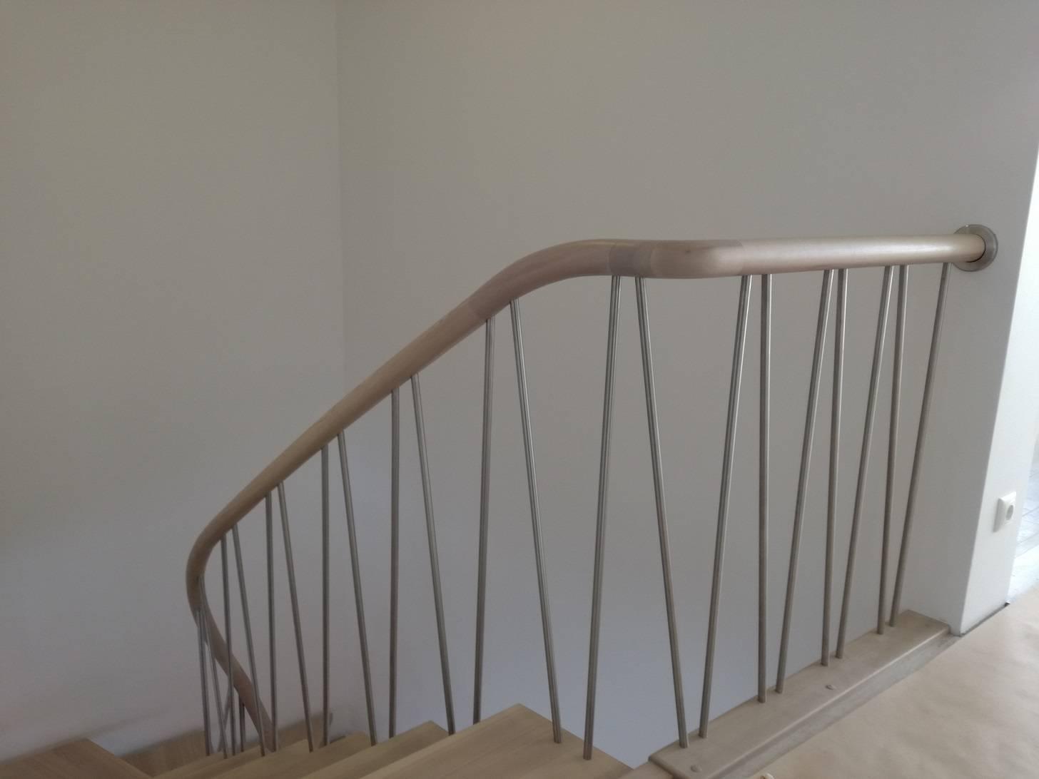 uosines 50 mm pakopos laiptai erdviniai apvalus porankiai